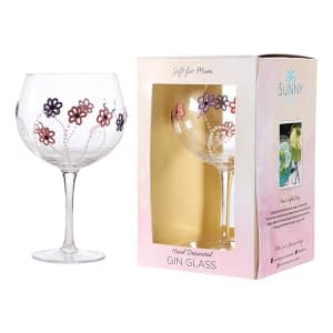 Sunny By Sue Gin & Tonic Glass Coloured Flower Mum