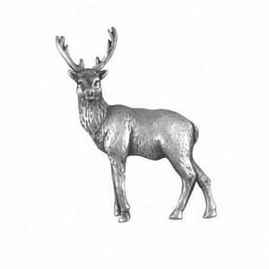 Pewter Stag Standing Lapel Pin