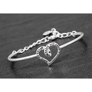 Coiled Heart Silver Plated Bangle Dream