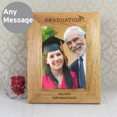 Personalised Graduation 7x5 Wooden Photo Frame