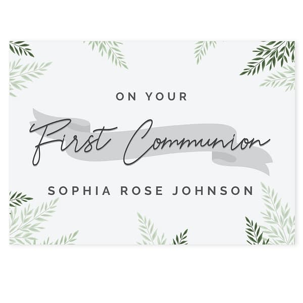 Personalised First Communion Card