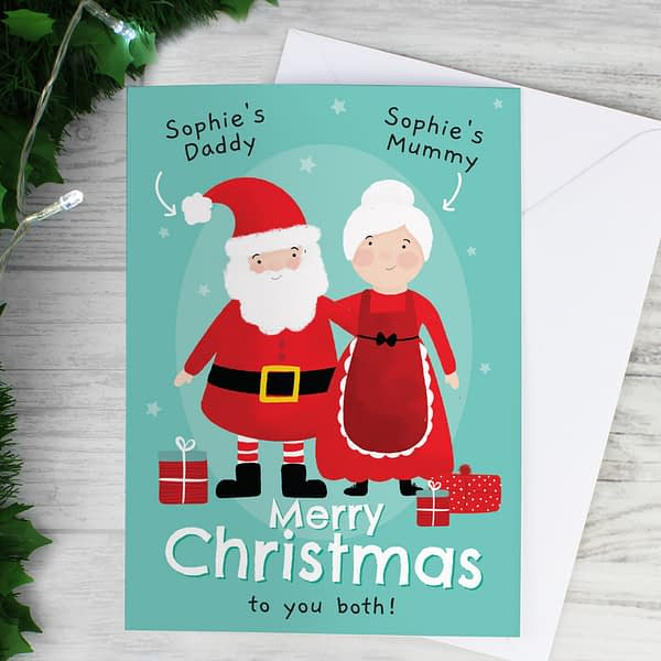 Personalised Mr & Mrs Claus Card