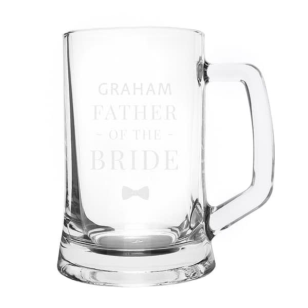 Personalised Father of the Bride Pint Stern Tankard