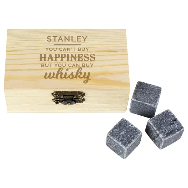 Personalised Happiness Whisky Stones