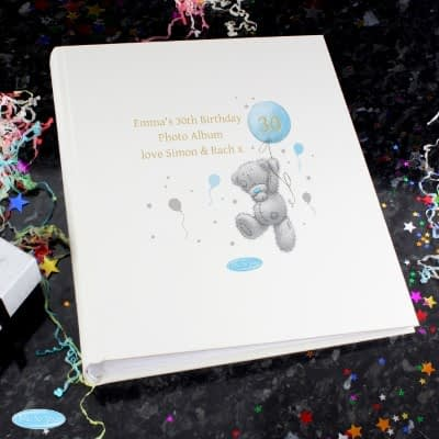 Personalised Me To You Blue Balloon Album with Sleeves