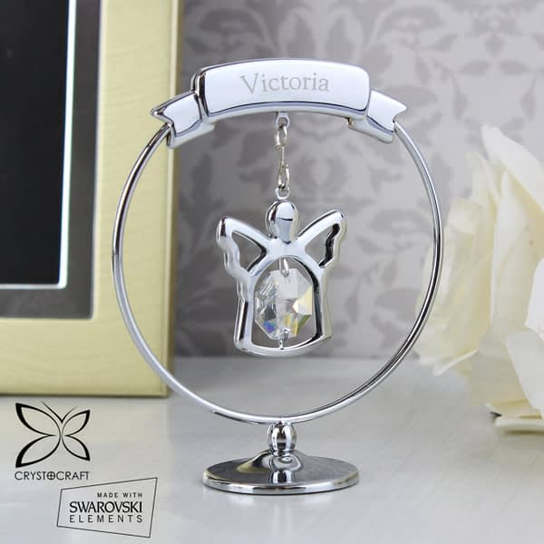 Personalised Name Only Crystocraft Angel Ornament