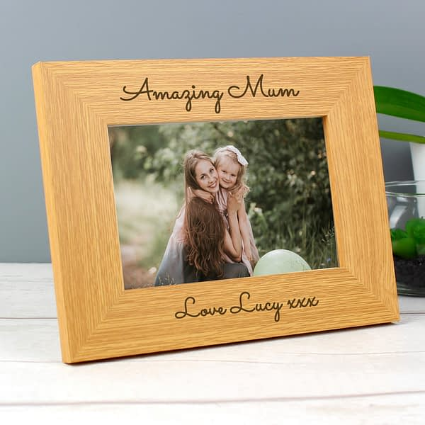 Personalised Free Text 6x4 Wooden Photo Frame
