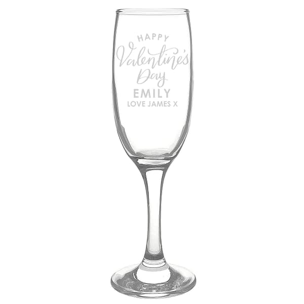 Personalised Valentine's Day Flute Glass