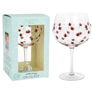 Sunny By Sue Gin & Tonic Glass Ladybird