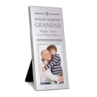 Personalised Gold Award Small Silver 2x3 Photo Frame