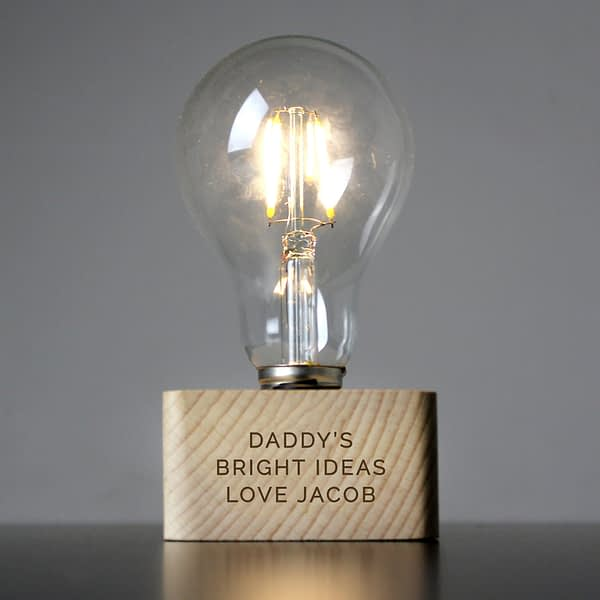Personalised Message LED Bulb Table Lamp