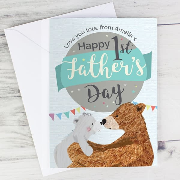 Personalised 1st Father's Day Daddy Bear Card