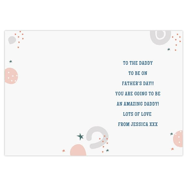 Personalised From the Bump Father's Day Card