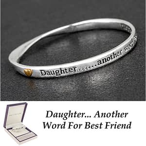 Equilibrium Silver Plated 2 Tone Bangle Daughter