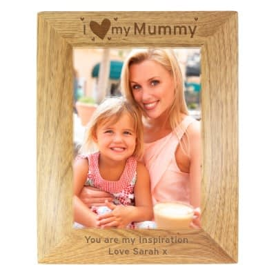 Personalised I Heart My... 7x5 Wooden Photo Frame
