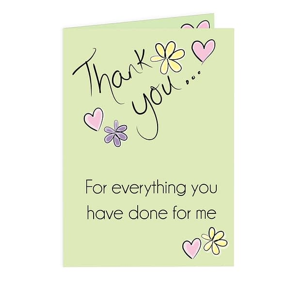 Personalised Thank You Flower Heart Card