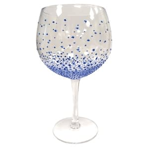 Sunny By Sue Gin & Tonic Glass Dotty Blue