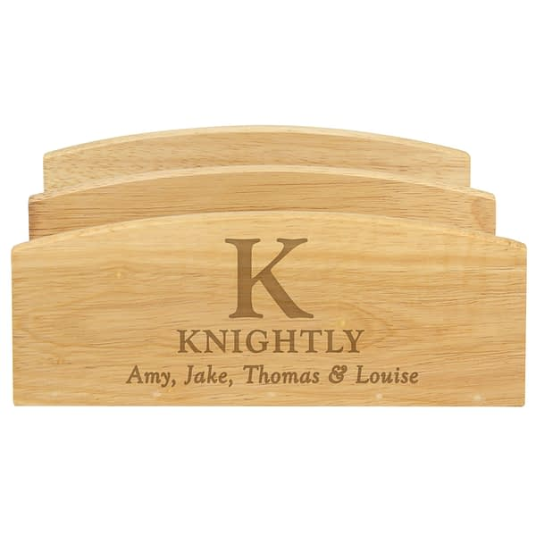 Personalised Initial & Message Wooden Letter Rack