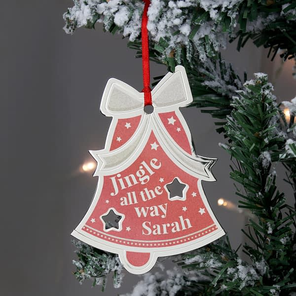 Personalised Jingle All The Way Bell Metal Decoration
