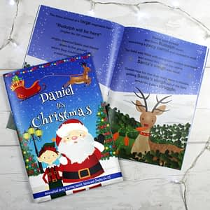 """Personalised Boys """"""""It's Christmas"""""""" Story Book, Featuring Santa and his Elf Jingles"""
