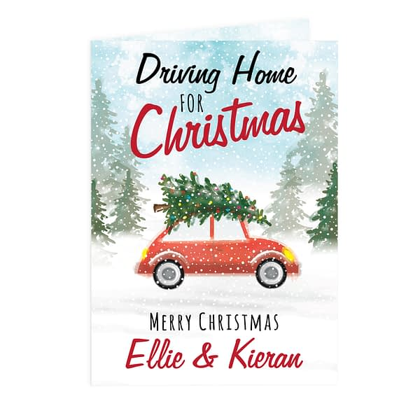 Personalised 'Driving Home For Christmas'' Card