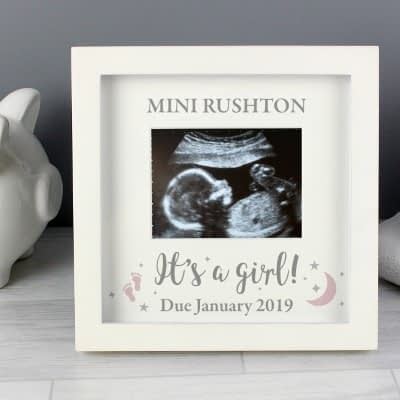 Personalised 'It's A Girl' Baby Scan Frame