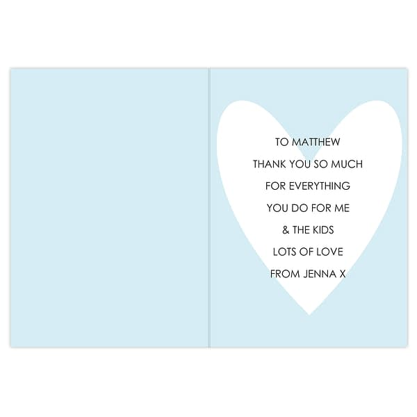 Personalised My Handsome Hubby Card