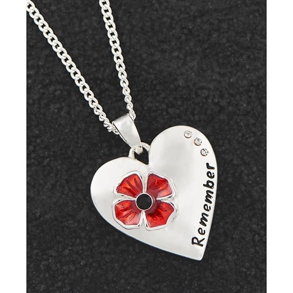 Poppy Remember Silver Plated Necklace