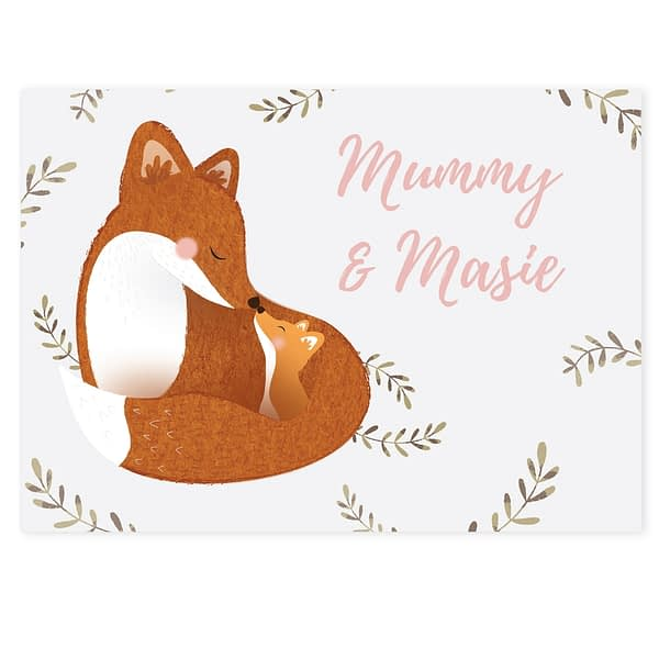 Personalised Mummy and Me Fox Card