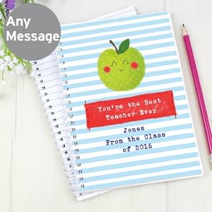 Personalised Apple for the Teacher A5 Notebook
