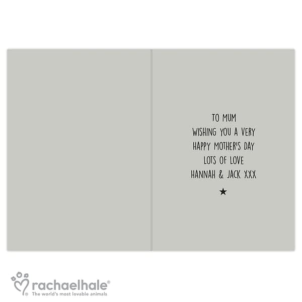 Personalised Rachael Hale 'Nice, Normal Family' Card