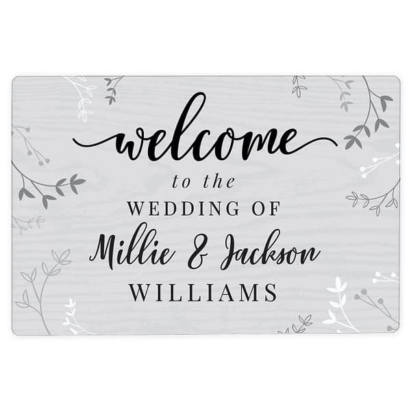 Personalised Welcome Metal Sign