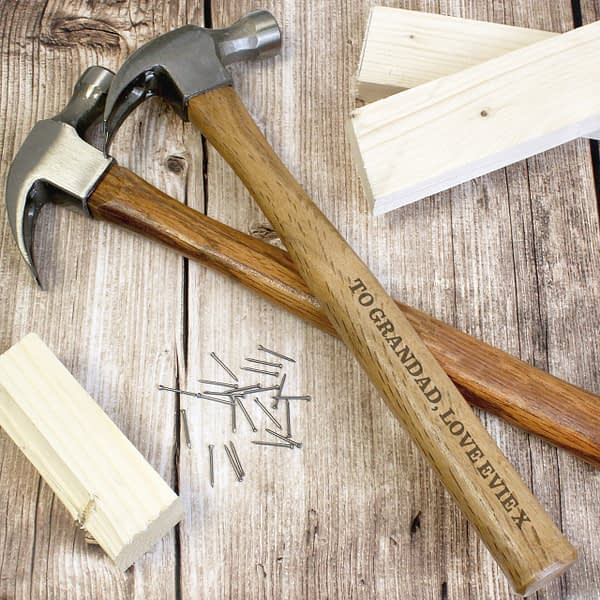Personalised Bold Text Hammer