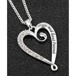 Equilibrium silver plated Looped Heart Necklace Mum
