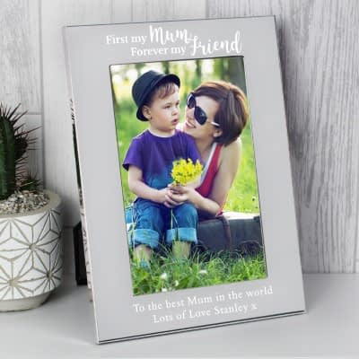 Personalised First My Mum...6x4 Silver Photo Frame