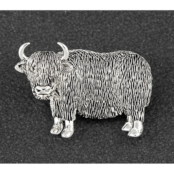 Equilibrium Highland Coo Silver Plated Brooch