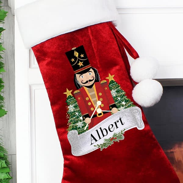 Personalised Nutcracker Red Stocking