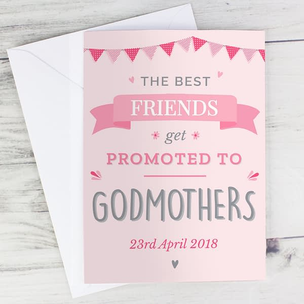 Personalised Pink Promoted to Card