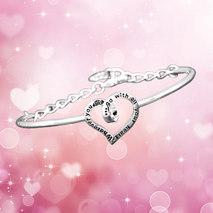 Coiled Heart Silver Plated Bangle Heart